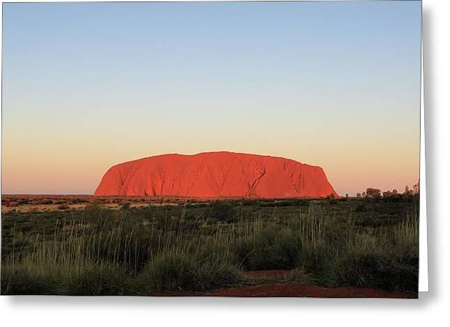 Uluru At Sunset Greeting Card
