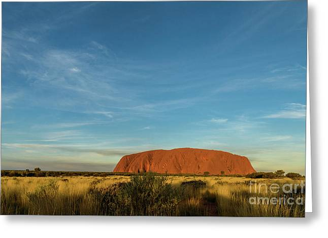 Greeting Card featuring the photograph Uluru Sunset 01 by Werner Padarin