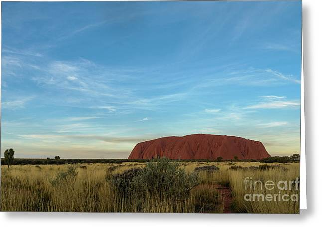 Greeting Card featuring the photograph Uluru Sunset 02 by Werner Padarin