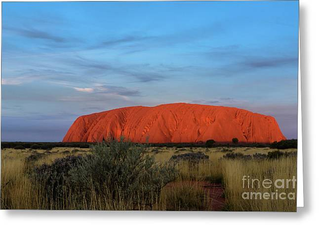 Greeting Card featuring the photograph Uluru Sunset 03 by Werner Padarin