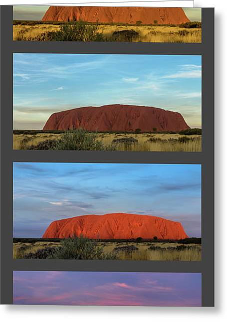 Greeting Card featuring the photograph Uluru Sunset by Werner Padarin