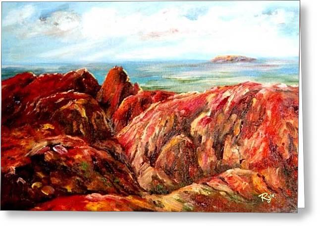 Uluru Viewed From Kata Tjuta Greeting Card