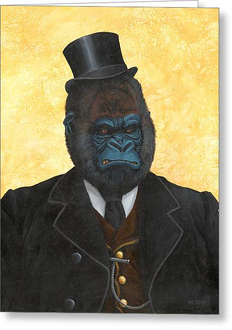 Ulysses K. Silverback  Greeting Card by Matt Ebisch