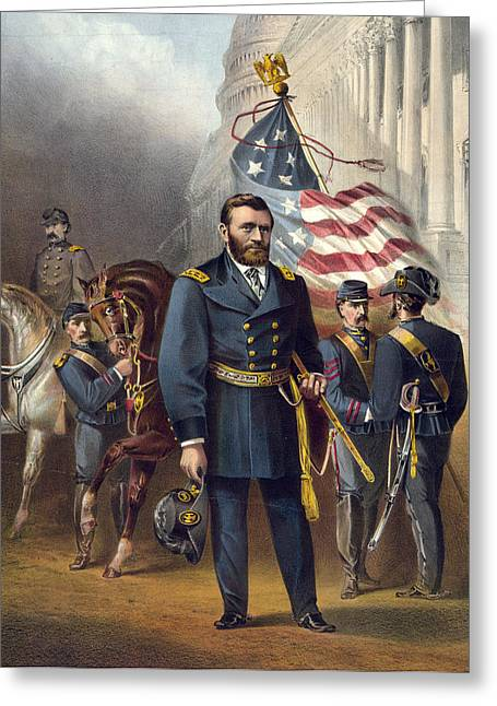 American Politician Greeting Cards - Ulysses S Grant - President of the United States Greeting Card by International  Images