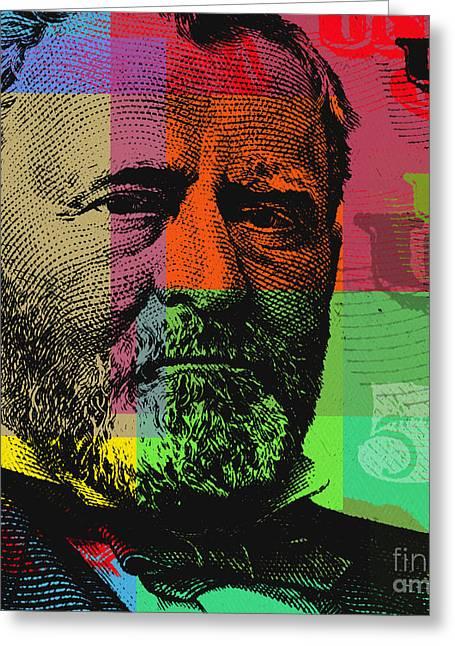Ulysses S. Grant - $50 Bill Greeting Card