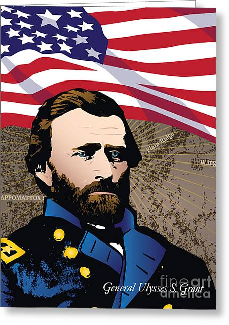 Ulysses S. Grant At Appomattox Greeting Card by Joe Barsin