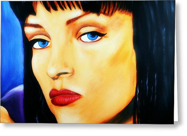Uma Thurman In Pulp Fiction Greeting Card