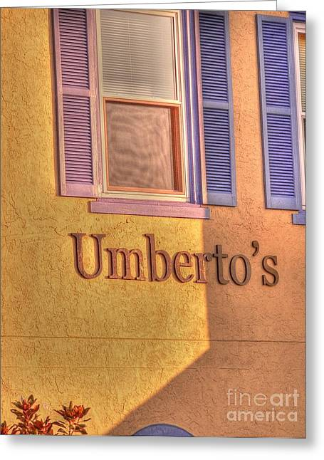 Umbertos Greeting Card
