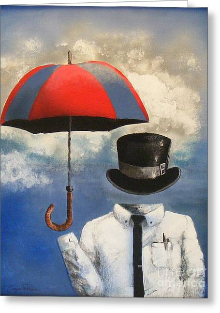 Umbrella Greeting Card by Crispin  Delgado