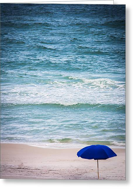 Umbrella In Paradise Greeting Card by Shelby Young