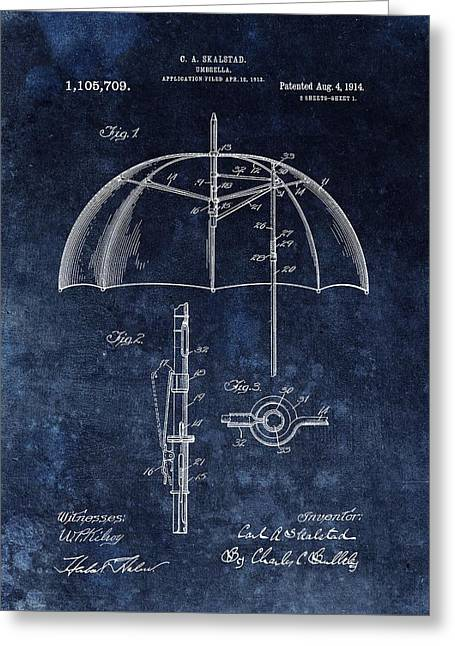Umbrella Patent Greeting Card by Dan Sproul