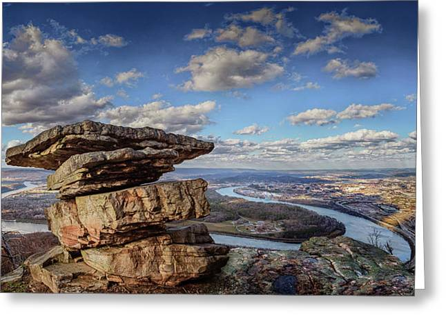 Umbrella Rock Overlooking Moccasin Bend Greeting Card