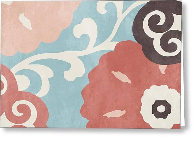 Umbrella Skies I Suzani Pattern Greeting Card