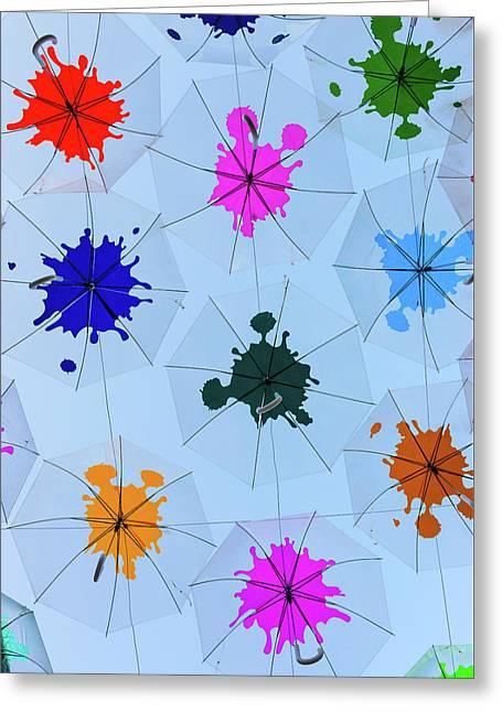 Umbrella Sky IIi Greeting Card