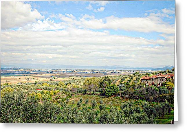 Umbrian View Greeting Card