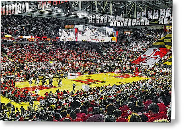 Umd Basketball Greeting Card by Christopher Kerby