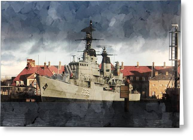 Hdms Peder Skram Greeting Card by Dorothy Berry-Lound