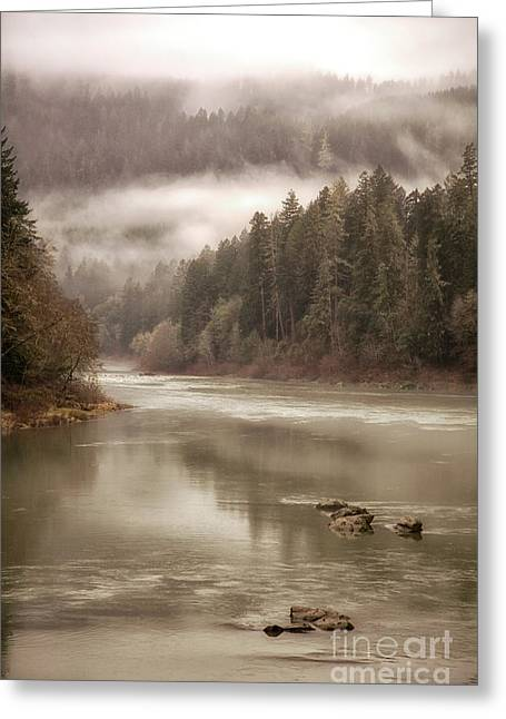 Umpqua River Fog Greeting Card