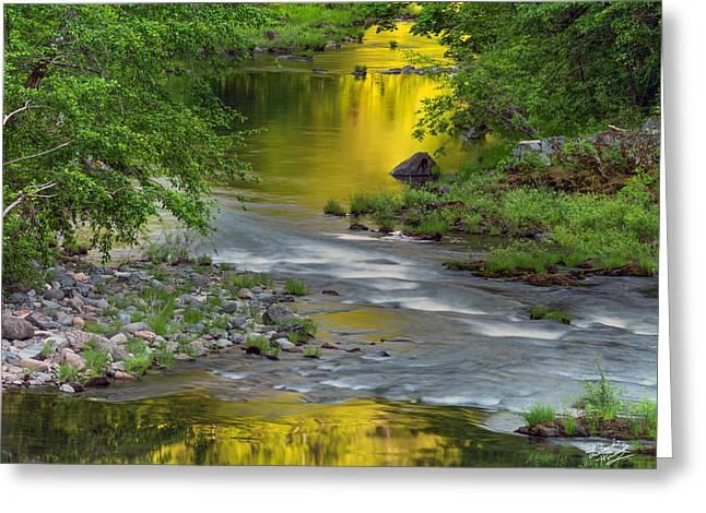 Umpqua River Light Greeting Card by Leland D Howard