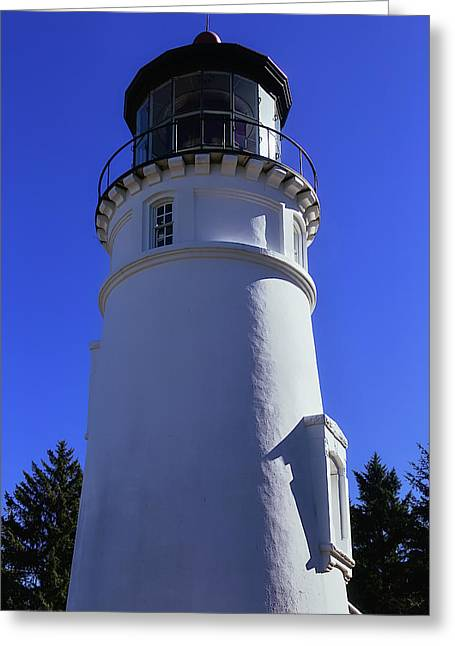 Umpqua River Lighthouse Greeting Card by Garry Gay