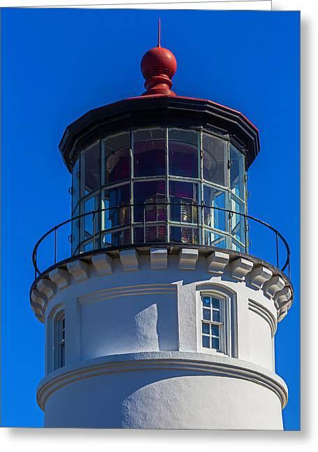 Umpqua River Lighthouse Oregon Coast Greeting Card by Garry Gay