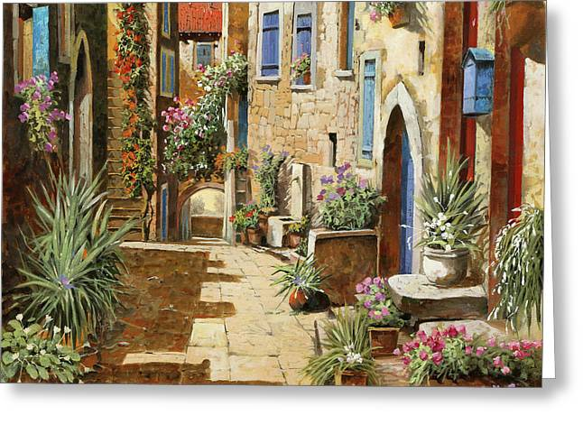 Un Bell'interno Greeting Card by Guido Borelli