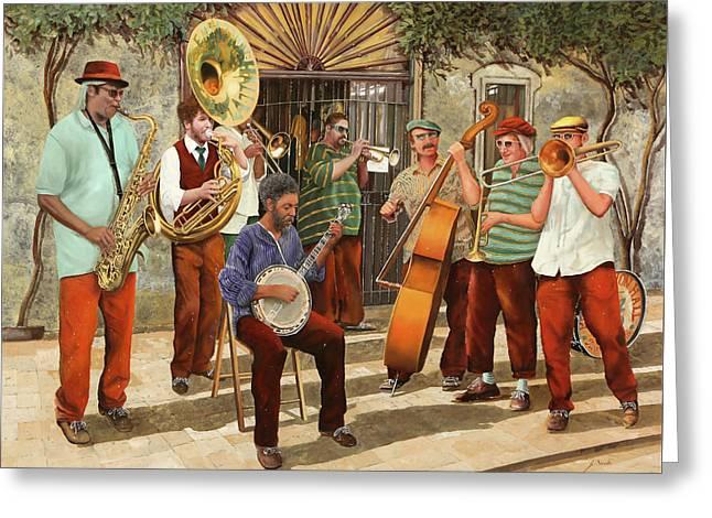 Un Po' Di Jazz Greeting Card by Guido Borelli
