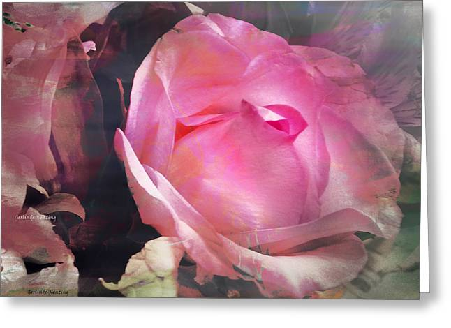 Una Rosa Greeting Card by Gerlinde Keating - Galleria GK Keating Associates Inc