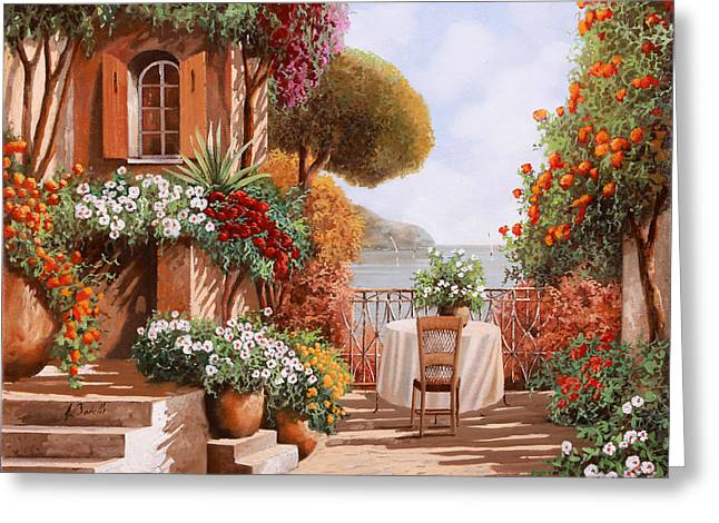 Una Sedia In Attesa Greeting Card by Guido Borelli
