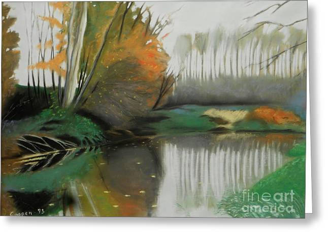 Greeting Card featuring the painting Unadilla Autumn by Robert Coppen
