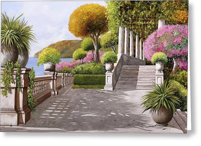 Un'altra Scalinata Greeting Card by Guido Borelli