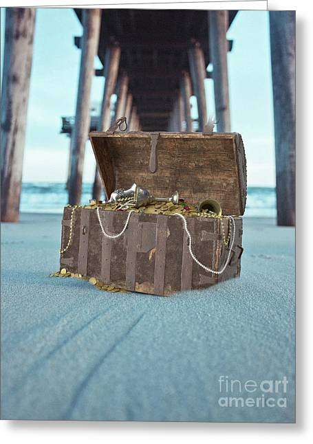 Unburied Pirate Treasure Surreal Greeting Card