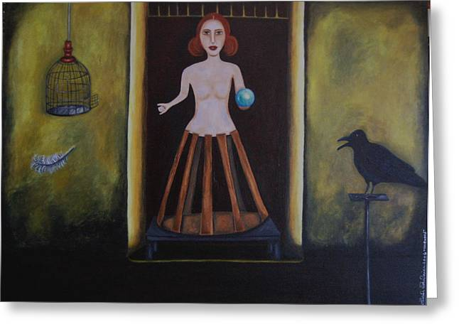Uncaged Greeting Card by Leah Saulnier The Painting Maniac