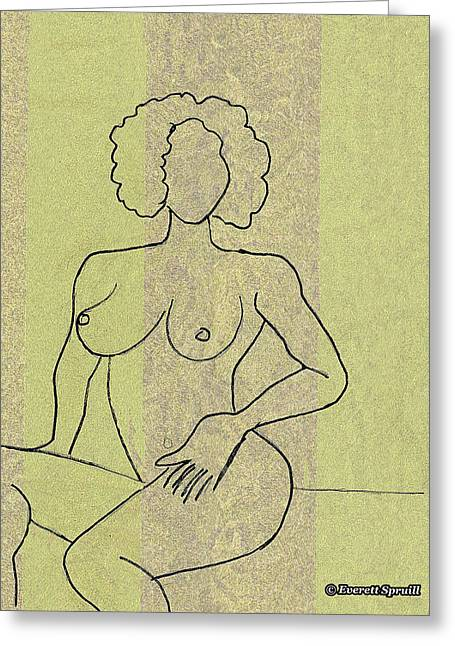 Unclad # 11 Greeting Card