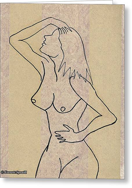 Unclad # 12 Greeting Card