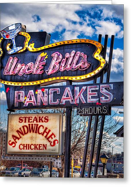 Uncle Bill's Pancakes Greeting Card by Robert  FERD Frank