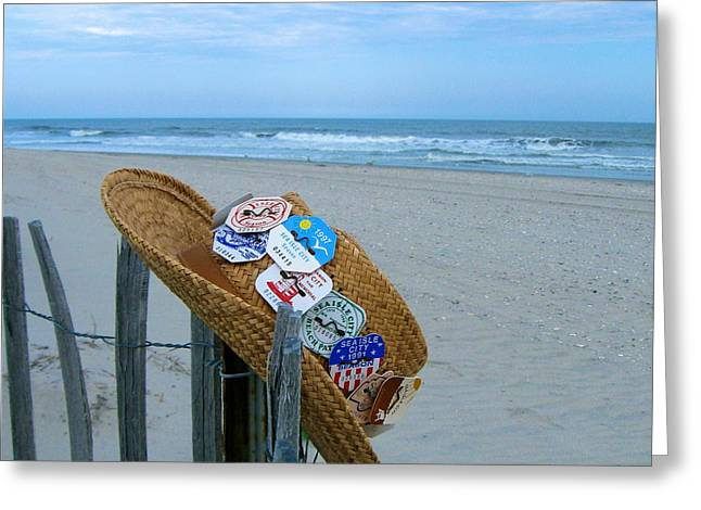 Uncle Carl's Beach Hat Greeting Card