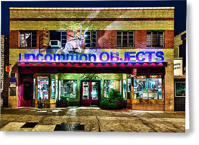 Uncommon Objects At Night Greeting Card by John Maffei