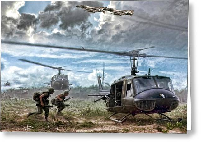 Uncommon Valor Greeting Card by Peter Chilelli
