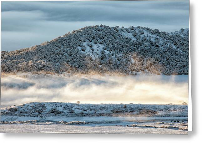 Uncompaghre Valley Fog Greeting Card