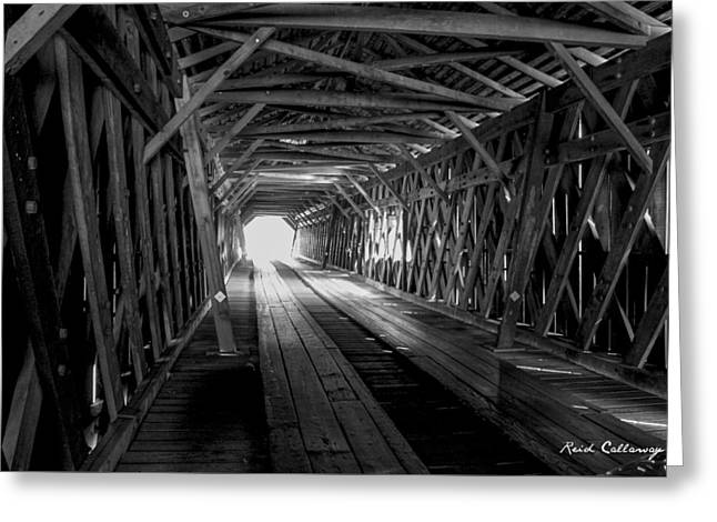Weatherizing Uncovered Watson Mill Covered Bridge Greeting Card by Reid Callaway