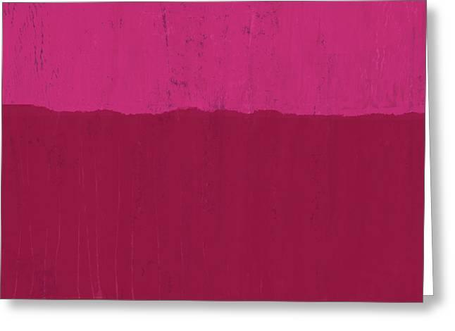Undaunted Pink 2- Art By Linda Woods Greeting Card by Linda Woods