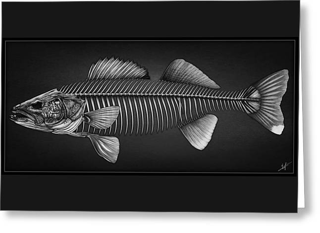 Undead Walleye Greeting Card by Nick Laferriere