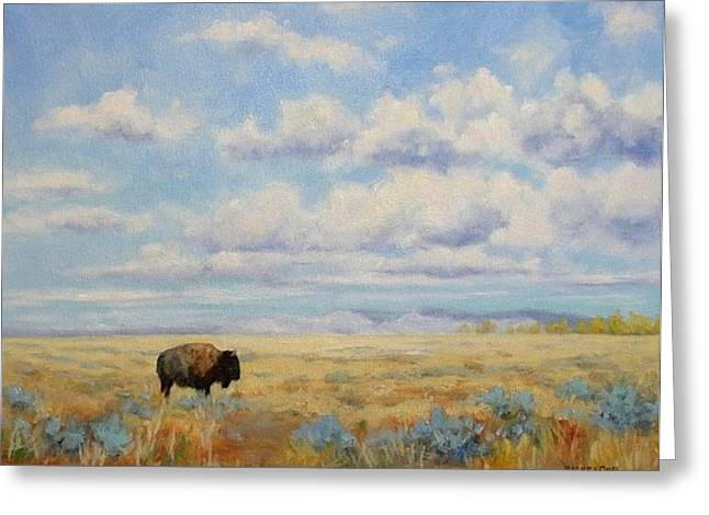 Under A Big Sky Greeting Card by Debra Mickelson
