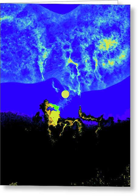 Under A Full Moon Greeting Card