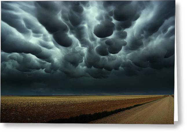 Under A Mammatus Sky Greeting Card