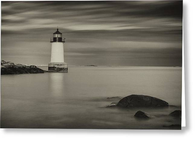 Greeting Card featuring the photograph Under A Pale Grey Sky by Brian Hale