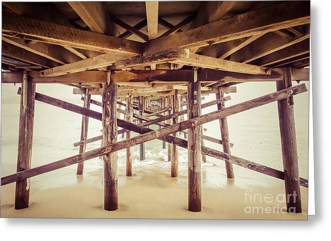 Under A Southern California Pier Greeting Card by Paul Velgos