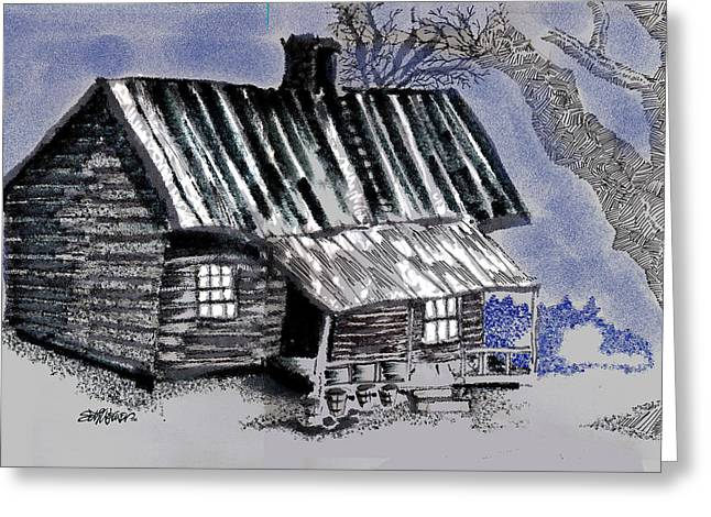 Under A Tin Roof Greeting Card