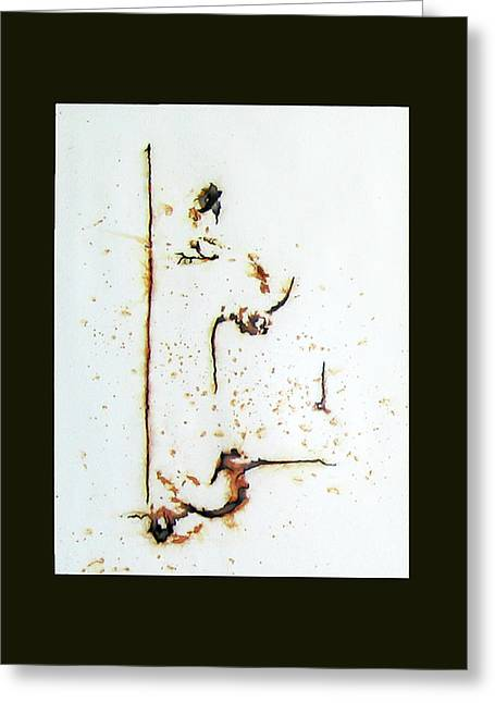 Rust Drawings Greeting Cards - Under a watchful eye Greeting Card by Heather Crowther